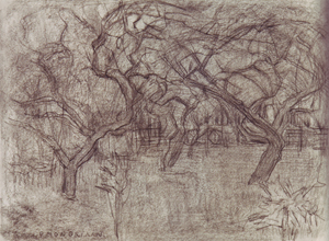 Mondrian A333 Orchard with Enmeshed Tree Branches, c.1905
