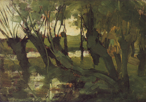 Mondrian A350 Willow Grove, Trunks Leaning Left I, c.1902-03