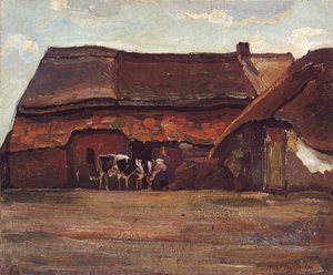 Mondrian A359 Brabant Farm Building and Shed, 1904