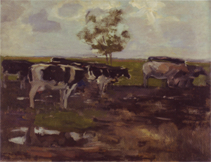 Mondrian A373 Cows in a Meadow with Tree, 1904
