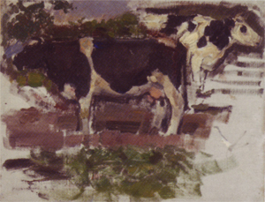 Mondrian A374 Study of Two Cows, 1904