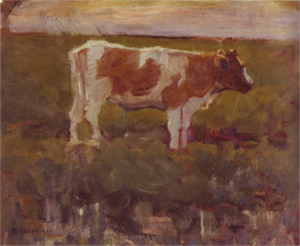 Mondrian A376 Brown and White Heifer, 1904