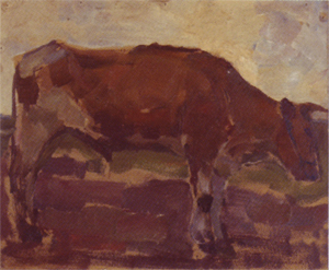 Mondrian A377 Brown and White Ox Steer, 1904