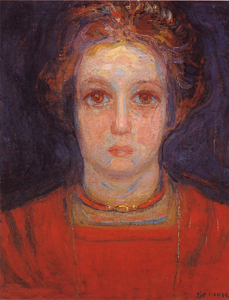 Mondrian A636 Portrait of a Girl in Red, c.1908-09