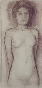 Mondrian A646 Nude Study for Evolution, 1911