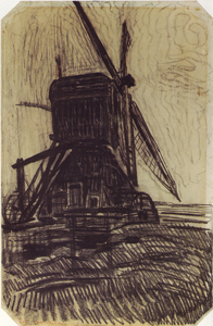 Mondrian A652 Study for The Winkel Mill, 1907-08