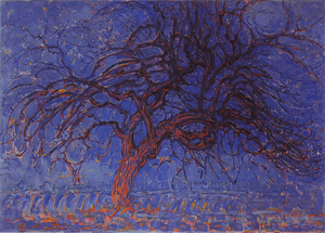 Mondrian A671 Avond (Evening): The Red Tree, 1908-10