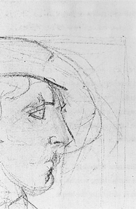 Mondrian A674 Head of Zeeland Farmer, 1909 (verso of A605)