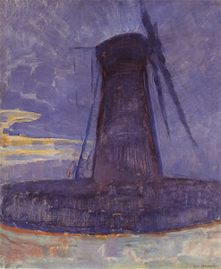 Mondrian A677 Mill at Domburg, 1908-09