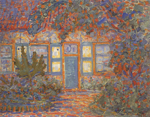 Mondrian A679 Huisje Bij Zon (Little House in Sunlight), 1909-10