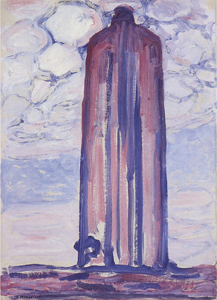 Mondrian A682 Lighthouse at Westkapelle with Clouds, 1908-09