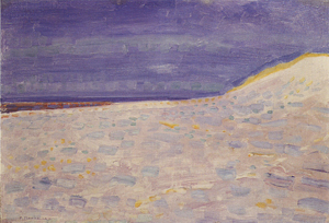 Mondrian A699 Beach with One Pier at Domburg, 1909