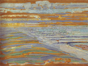 Mondrian A700 View from the Dunes with Beach and Piers, 1909