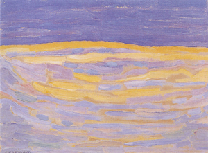 Mondrian A701 Dune Sketch in Bright Stripes, 1909