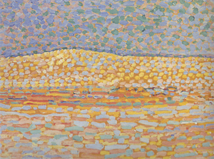 Mondrian A703 Pointillist Dune Study, Crest at Left, 1909