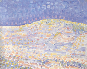 Mondrian A704 Pointillist Dune Study, Crest at Right, 1909