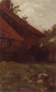 Mondrian A78 Woman and Farm Building in the Achterhoek, 1898-99