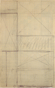Mondrian B111 Study for Tableau I 1920/21