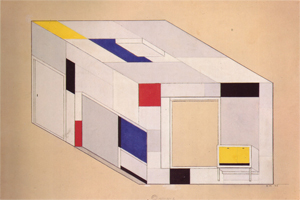 Mondrian B167c Designs for the Library-Study of Ida Bienert