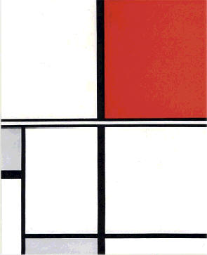 Marlow Moss, Composition in White, Black, Red and Grey, 1932